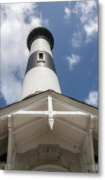 Base Of Bodie Island Lighthouse Metal Print