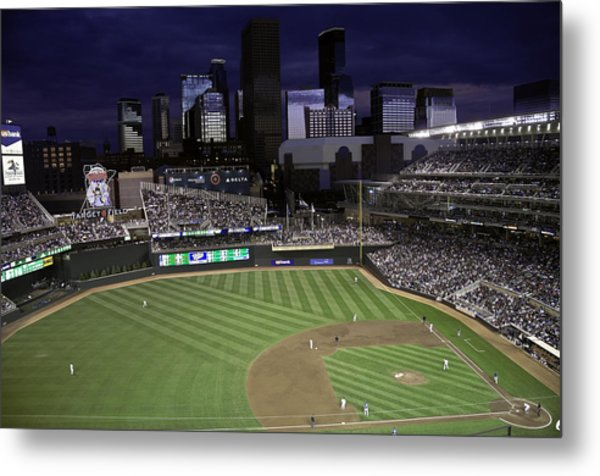 Baseball Target Field  Metal Print