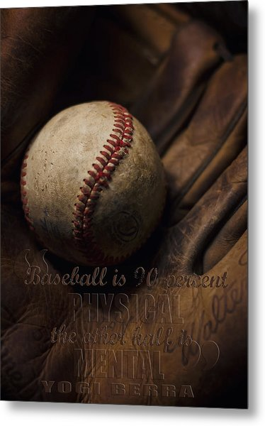 Baseball Yogi Berra Quote Metal Print