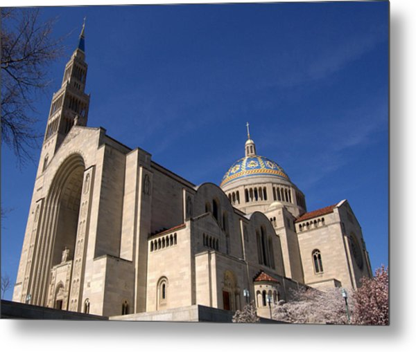 Basilica Of The National Shrine Of The Immaculate Conception Washington Dc Metal Print by Wayne Higgs