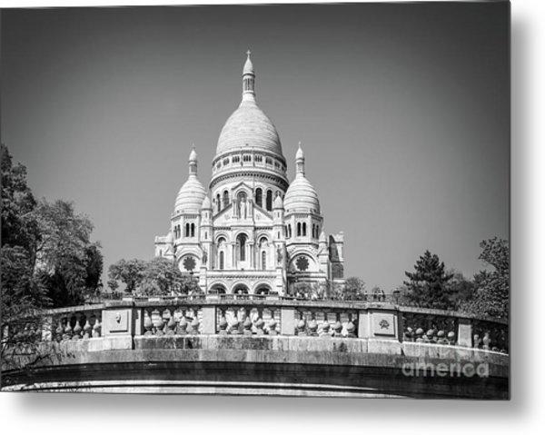 Basilica Of The Sacred Heart In Paris Metal Print