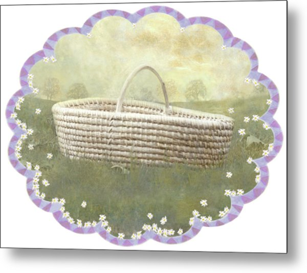 Basket Metal Print