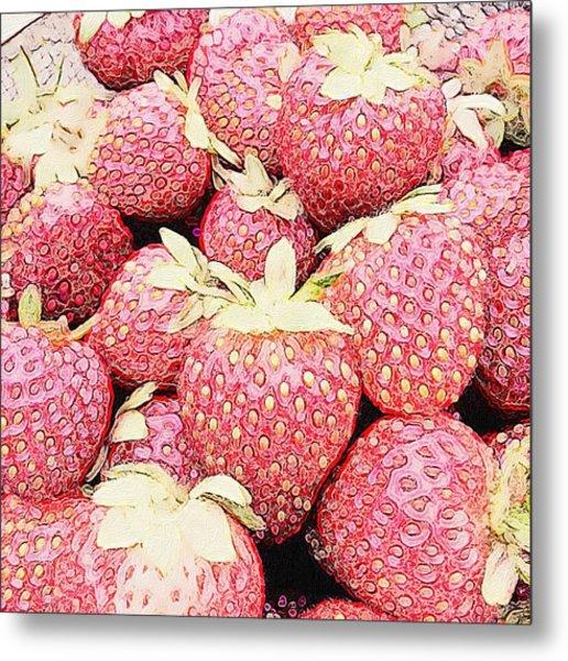 Basket Of Berries Metal Print