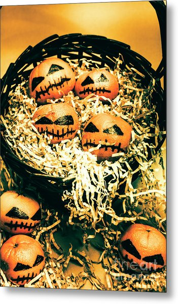 Basket Of Little Halloween Horrors Metal Print