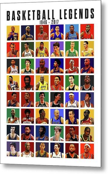 Basketball Legends Metal Print