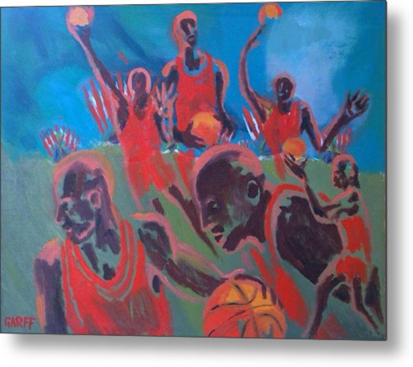 Basketball Soul Metal Print