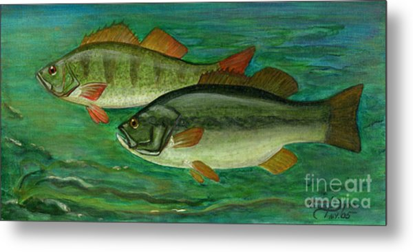 Bass And Perch Metal Print