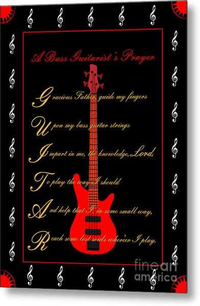 Bass Guitar_2 Metal Print by Joe Greenidge
