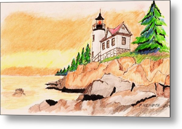 Bass Harbor Head Lighthouse Metal Print by Paul Meinerth