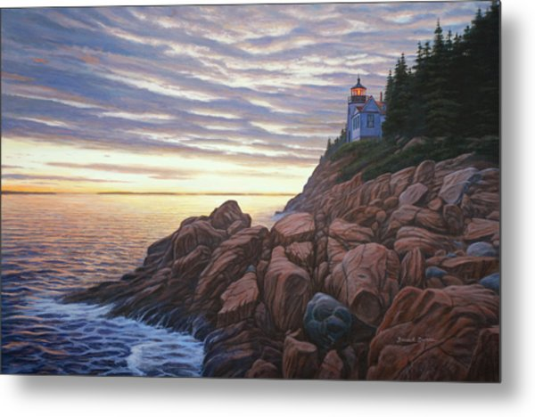 Bass Harbor Light Metal Print by Bruce Dumas