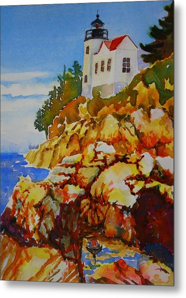 Bass Harbor Light House Metal Print