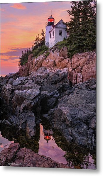 Metal Print featuring the photograph Bass Harbor Lighthouse by Expressive Landscapes Fine Art Photography by Thom