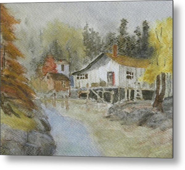 Bass Harbor Retreat Metal Print