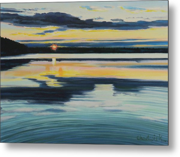 Bass Lake Sunset Metal Print