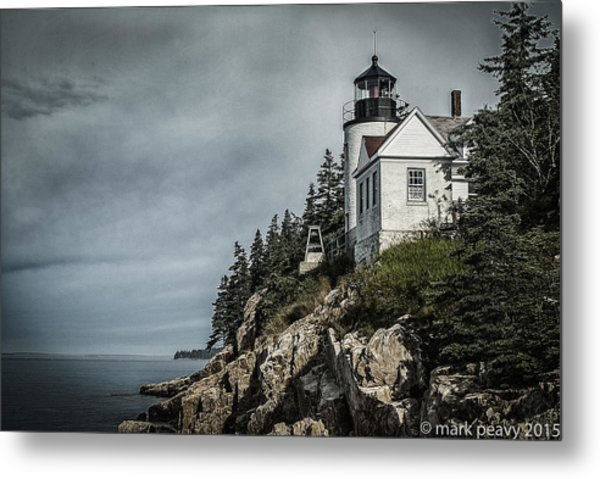 Bass Lighthouse Maine Metal Print