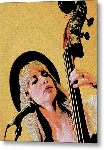 Bass Player Metal Print