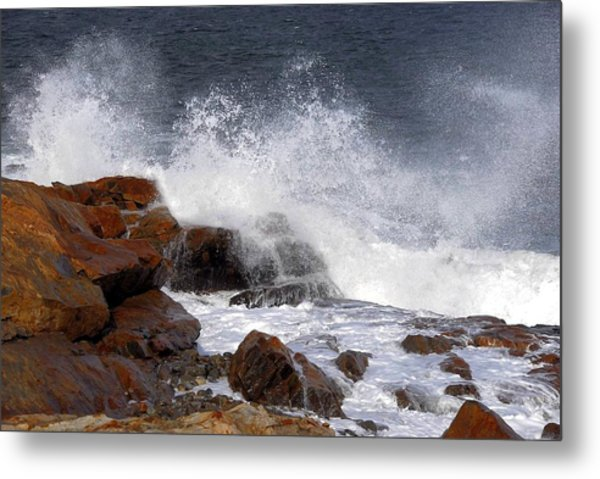 Bass Rocks Metal Print