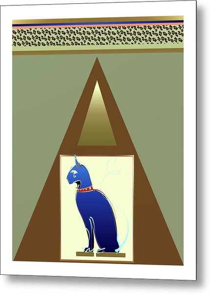 Metal Print featuring the mixed media Bastet  by Larry Talley
