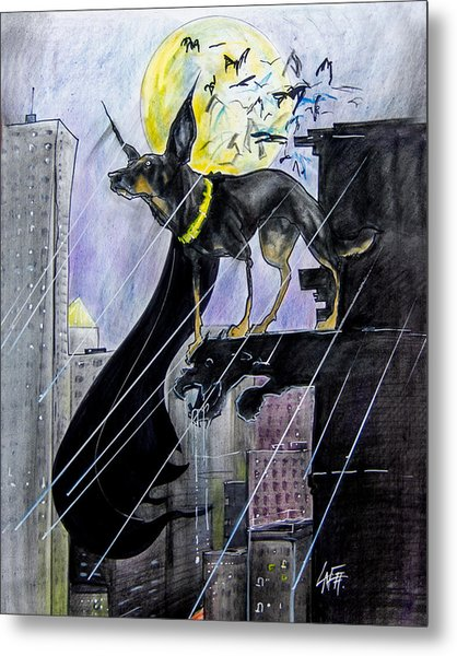 Bat-dog Caricature  Metal Print