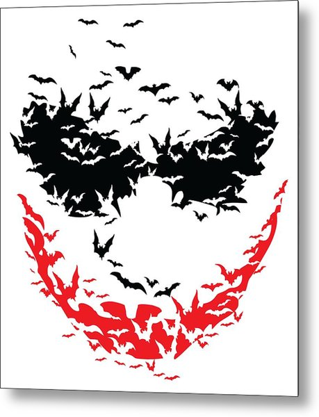 Metal Print featuring the digital art Bat Face by Christopher Meade