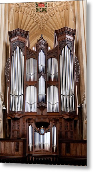 Bath Abbey Organ Metal Print