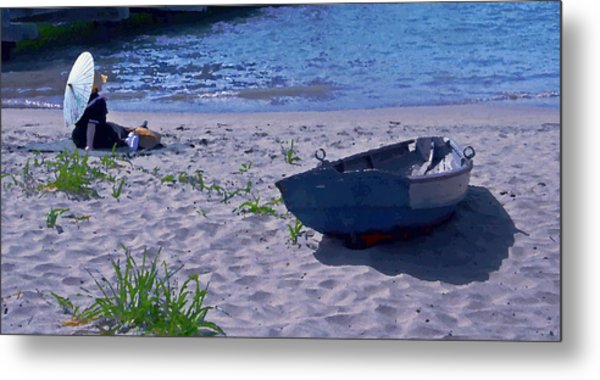 Bather By The Bay Metal Print