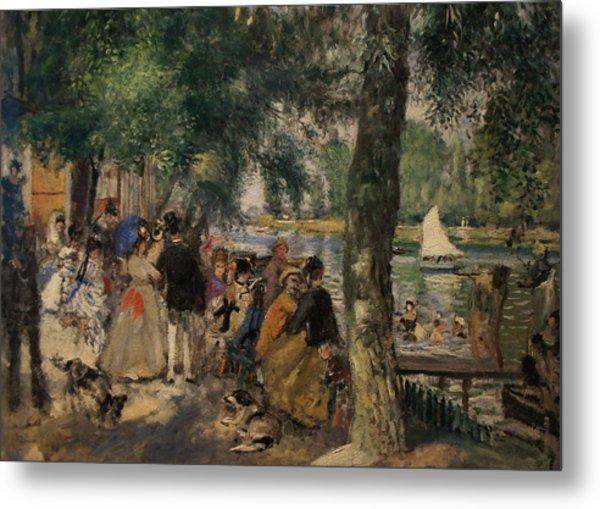 Bathing On The Seine Metal Print by Pierre Auguste Renoir