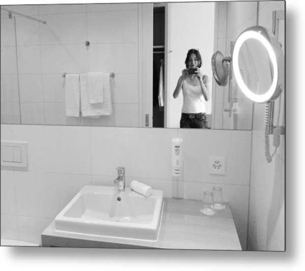 Bathroom Selfie Metal Print
