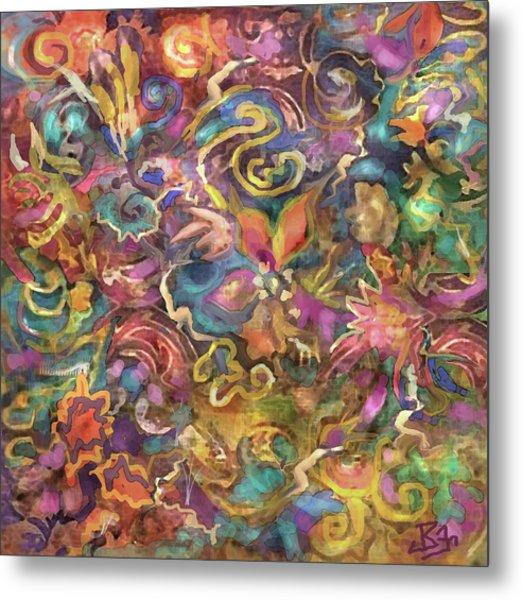Batik Colorburst Metal Print