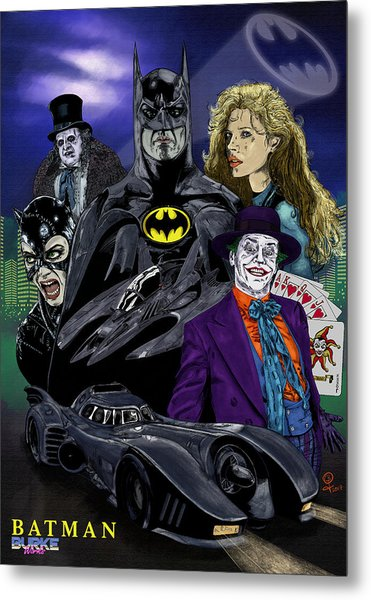 Batman 1989 Metal Print by Joseph Burke