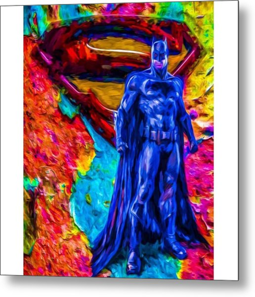 #batman #batmanvsuperman #dc #dccomics Metal Print