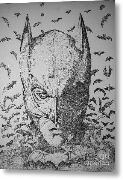 Batman Flight Metal Print