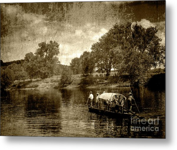 batteau on the James Metal Print