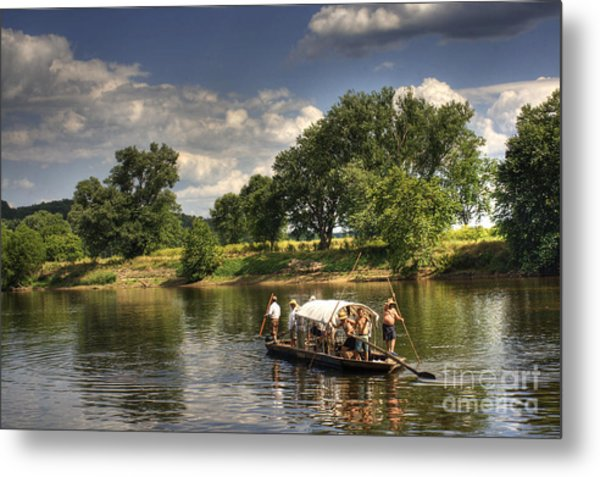 Batteau On The James River Metal Print