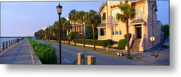 Battery Street Waterfront, Charleston Metal Print
