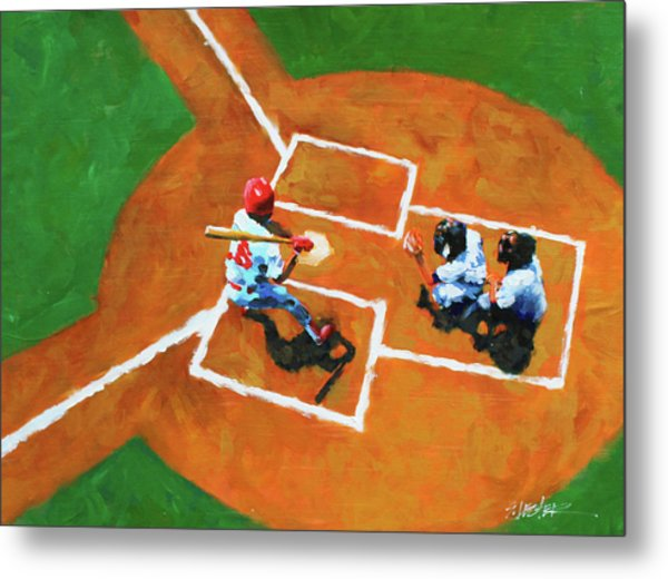 Batting Cleanup Metal Print