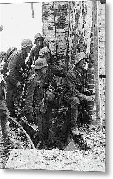 Battle Of Stalingrad  Nazi Infantry Street Fighting 1942 Metal Print