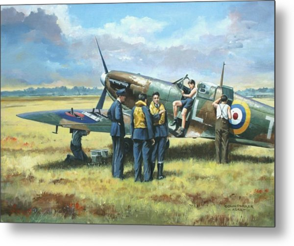 'battle Tactics' Metal Print
