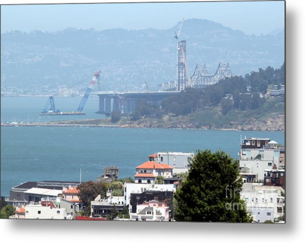 Bay Bridge Construction San Francisco Metal Print