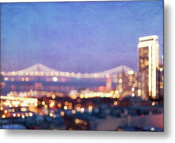 Bay Bridge Glow - San Francisco, California Metal Print