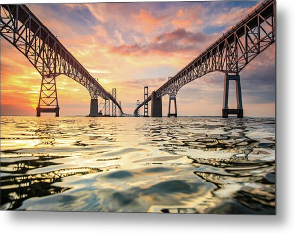 Bay Bridge Impression Metal Print