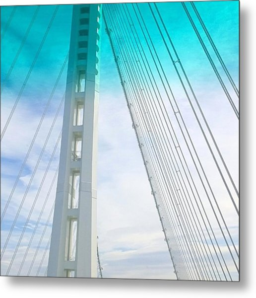 Bay #bridge Section. Love The Aqua Tint Metal Print