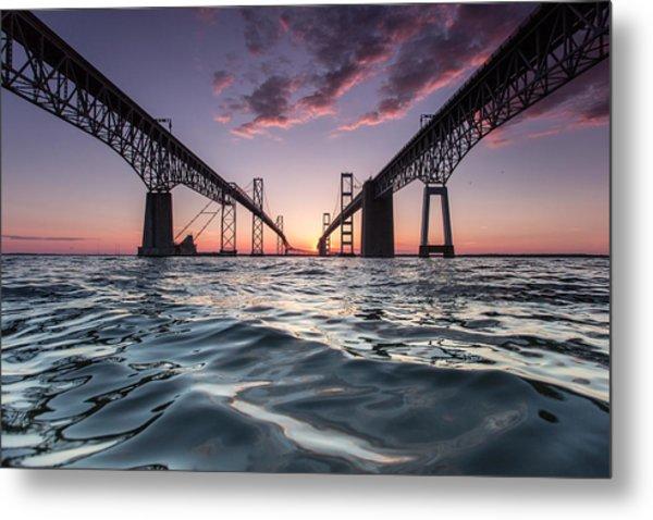 Bay Bridge Twilight Metal Print
