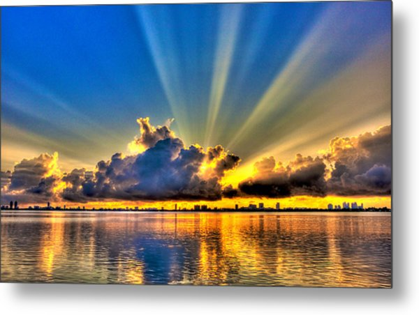 Bay Harbor Sunrise Metal Print by William Wetmore