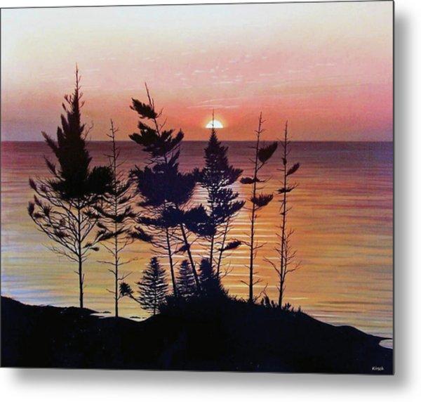 Bay Of Fundy Sunset Metal Print