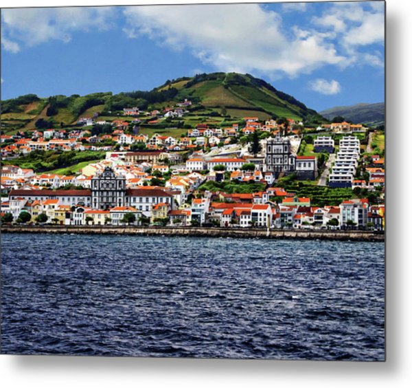 Bay Of Horta Metal Print