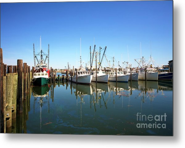 Bay Parking At Long Beach Island Metal Print by John Rizzuto