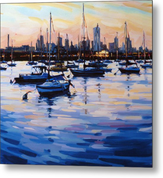 Bay View II Metal Print by Shelby Keefe