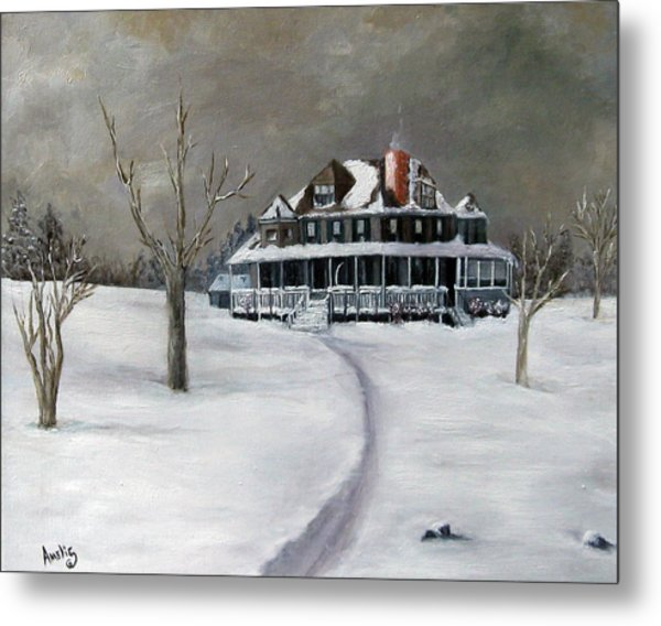 Bayberry Cottage Metal Print by Amelie Gates