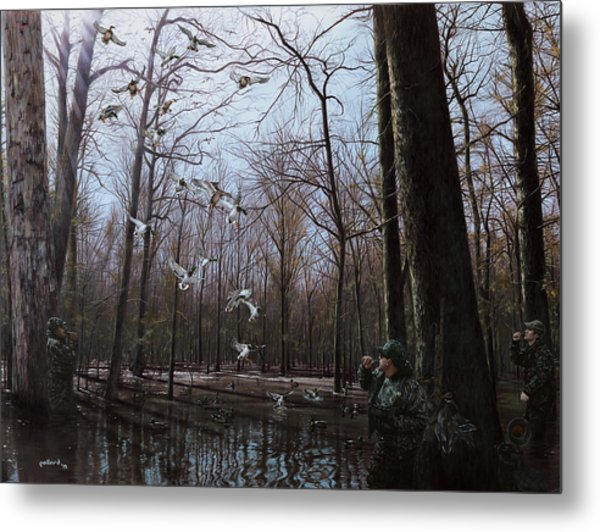 Bayou Meto Morning Metal Print